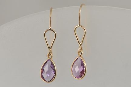 Amethyst & 14k gold earrings