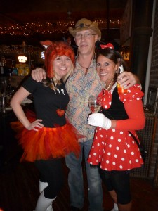 """Nikki Syverson, Don Short and Diane """"Minnie Mouse"""" Proctor."""