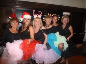 The cancan ladies: Joyce Ludwig, Liz Proctor, Wicker, Soozie McBroom Diane Proctor and Sarah Grant.