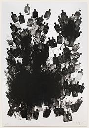 """Michael Squire, """"Gladiators""""  (2013), lithograph."""