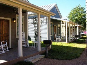 Sunday Haus Cottages at The Herb House in Fredericksburg, Texas.