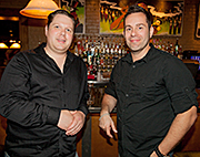 Chris Steele and Steve Kostianis  of Johnny's Italian Steakhouse.