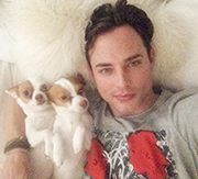 Photographer Ben Easter takes  a selfie with his two pups, Ozzie  and Harriet.