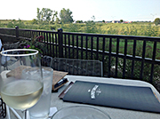 A pleasant patio adds to the dining experience at Hy-Vee in Ankeny.