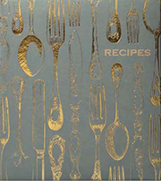 The beautiful cover of the recipe keeper books, which make a great gift idea for the holidays.