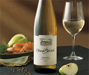 Chateau Ste. Michelle's Columbia Valley riesling is a great compromise between sweet and dry.