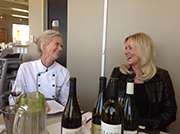 Chef Lisa LaValle and winery owner Dana Brown discuss food and wine pairings for their Winefest Prima Dinner.