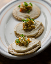 Green olive tapenade with fennel pollen is a crowd-pleasing appetizer. Photo by Richard Swearinger.
