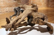 "Jessica Teckemeyer, ""Human Shadow"" (2013), mixed media, 18 x 24.5 x 25 inches."