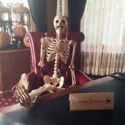 """Gov. """"Bonestad"""" relaxes in his Terrace Hill office after a tough day at the Iowa Legislature."""