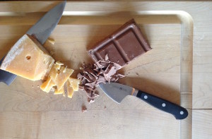 Hold back your inner skeptic; fine milk chocolate and Gouda is a pairing not to be missed.