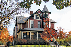 Built by a clothing manufacturer in 1892, this Queen Anne home has been restored with a devotion to historical accuracy.
