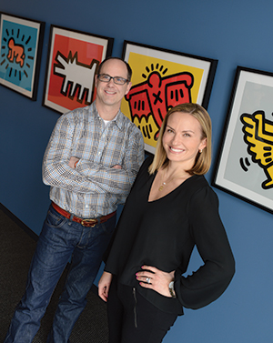 """David Safris and Liz Adelman hope Art Week Des Moines will engage people in the local arts and cultural scene in fresh and diverse ways. """"Art Week is for everyone,"""" Adelman says."""
