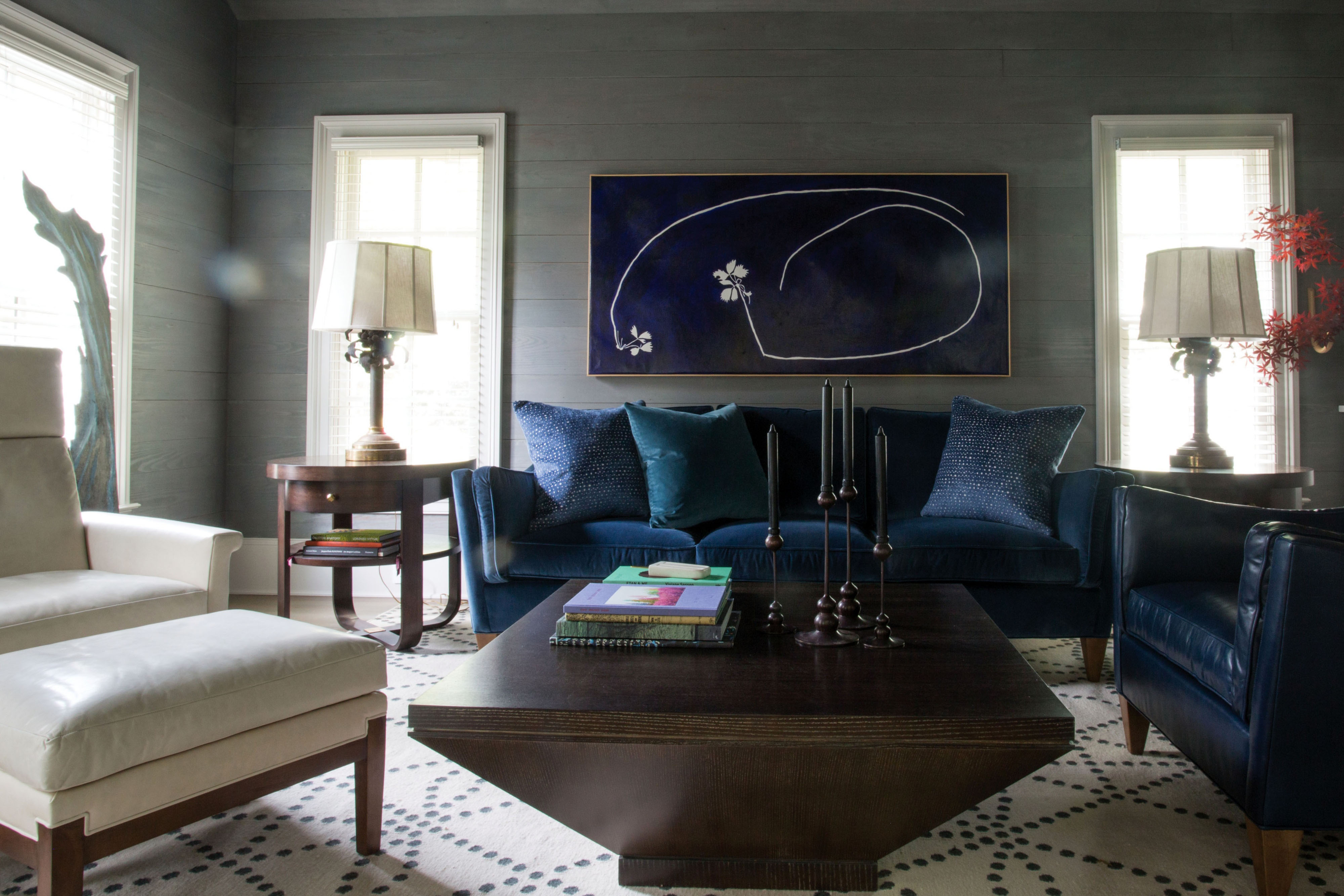 """From azure to indigo, dynamic shades expand a design trend toward """"moody blues."""""""