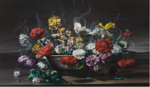 "Glenn Brown's ""Necrophiliac Springtime,"" (2014, oil on panel) is from a private collection, shared courtsey of Gagosian Gallery."