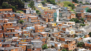 This patchwork of shacks and shelters in a Brazilian favela was home to the Caldas brothers, who say they grew up knowing little of the world beyond.